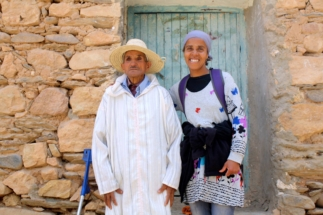 Latifa and village friend