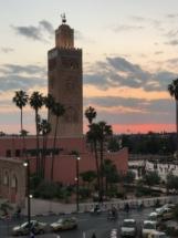 Mosque minaret Marakesh
