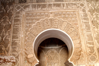 architectural detail of a moroccan door